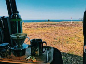 能取岬とコーヒー